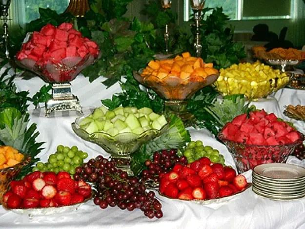 Frutas creativas para buffet o mesa de postres dale detalles for Frutas de cristal