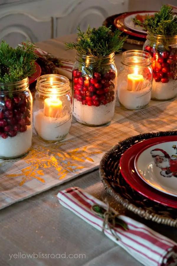 Reutiliza frascos de vidrio para decoraci n de navidad - Portavelas grandes ...
