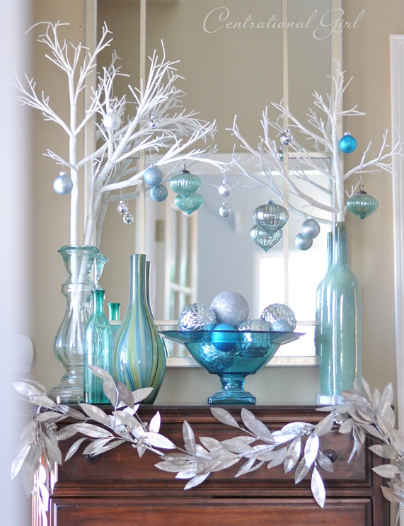 Decoración navideña en Azul turquesa , Dale Detalles