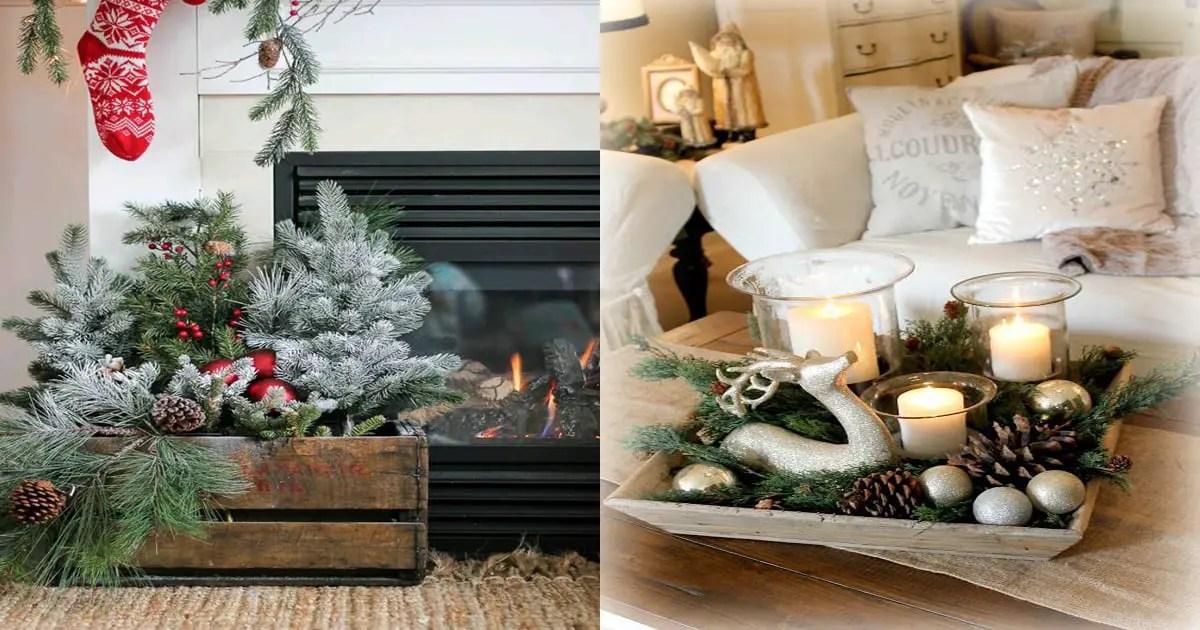 Decoraciones navide as usando cajas de madera dale detalles for Ideas de decoracion navidena