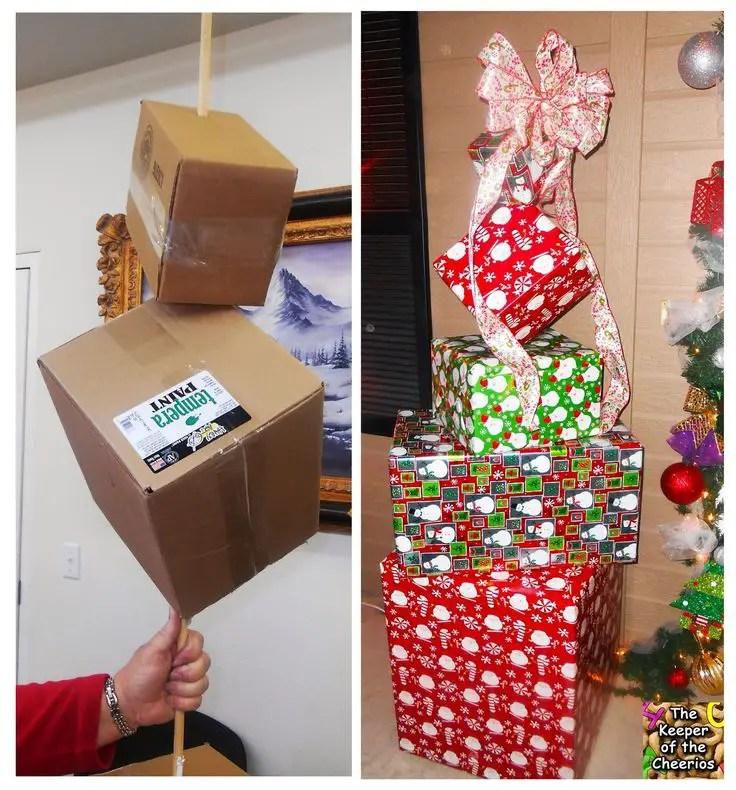 Decoraciones navide as con cajas de cart n dale detalles for Decoracion de cajas