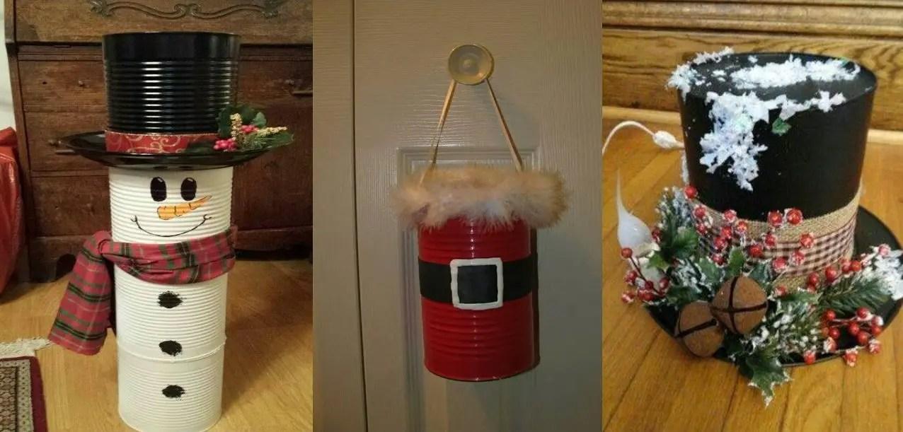 Decoraciones navide as con latas dale detalles - Decoraciones navidenas manualidades ...