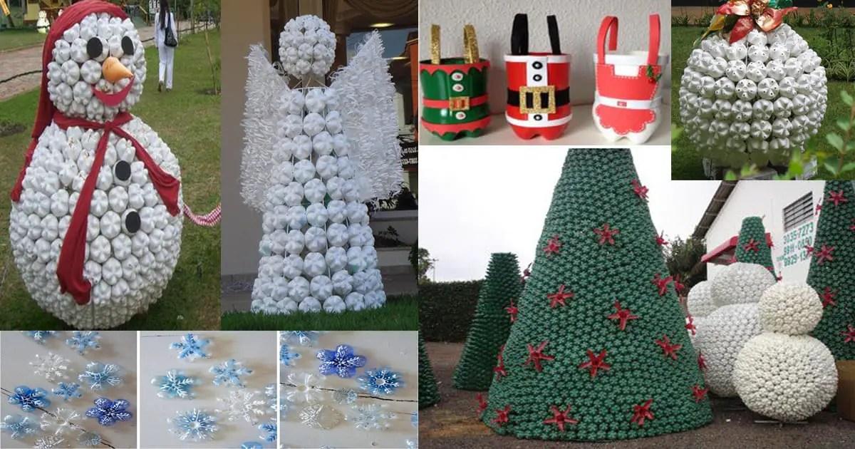 Decoraciones Navideñas Con Botellas De Plástico Dale Detalles