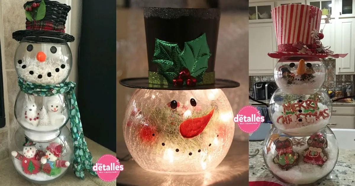 Decoraciones navide as utilizando peceras dale detalles for Decoraciones rusticas para navidad