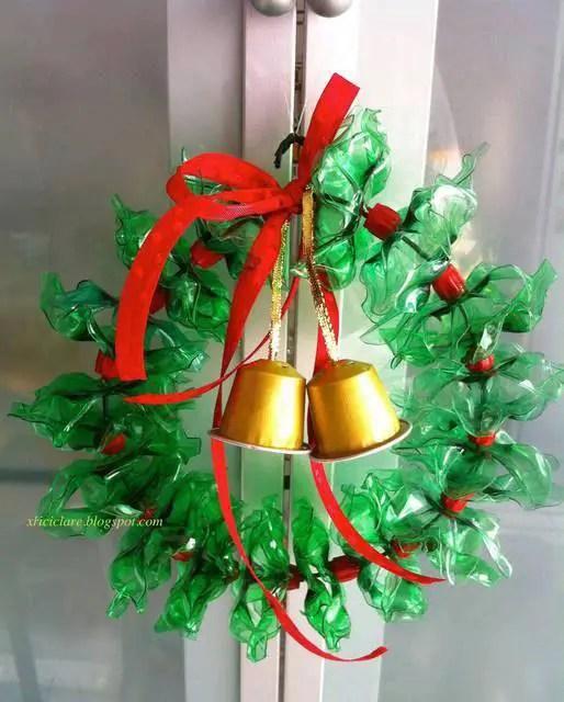 Decoraciones navide as con botellas de pl stico dale - Decoraciones navidenas con reciclaje ...