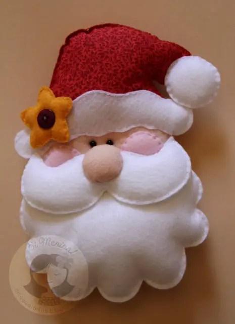 Corona navide a hecha con fieltro dale detalles - Coronas navidenas de fieltro ...