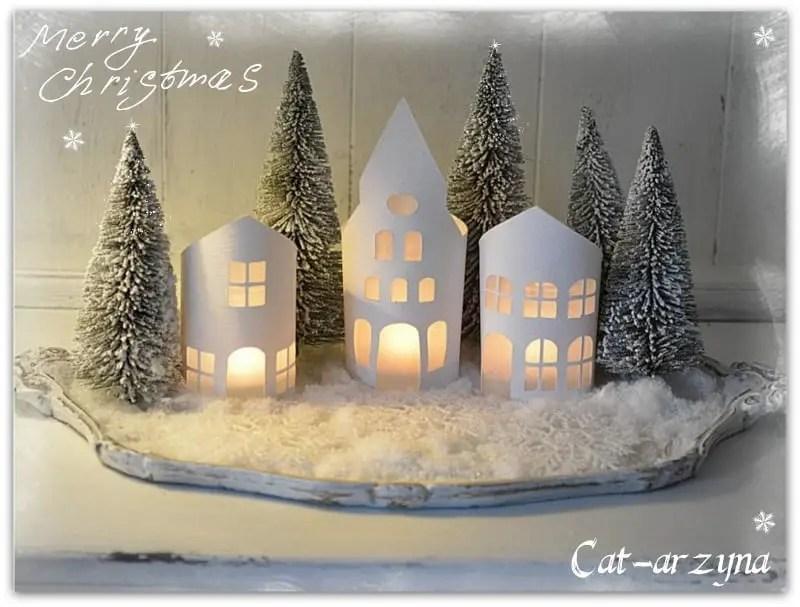 Villas navide as de papel dale detalles for Villas navidenas de porcelana