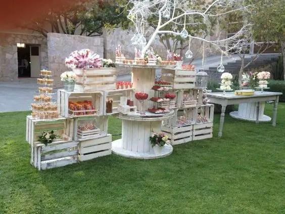 Excelente Como Decorar Mi Casa De Campo #6: Mesas-de-dulces-con-cajas7.jpg
