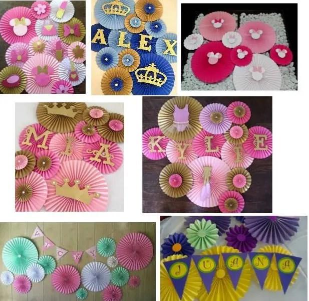 Rosetones de papel para decorar tu fiesta dale detalles - Decorar pared con papel ...