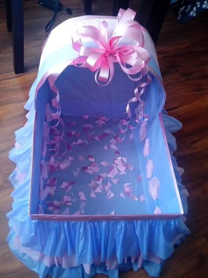 Encintados Para Baby Shower Nina.Cunitas De Carton Para Baby Shower Dale Detalles
