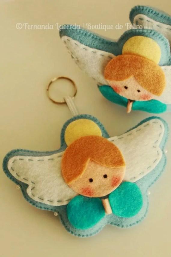 moldes para hacer angelitos de fieltro