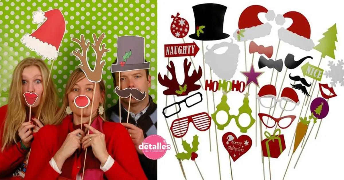 Imprimibles de Navidad gratis para fotos - Dale Detalles