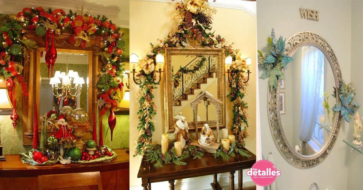 Ideas para decorar espejos en navidad dale detalles - Ideas decorar navidad ...