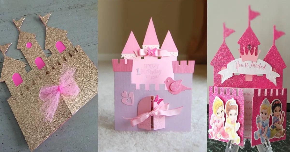 Invitaciones con forma de castillo dale detalles - Como hacer un photocall cumpleanos ...