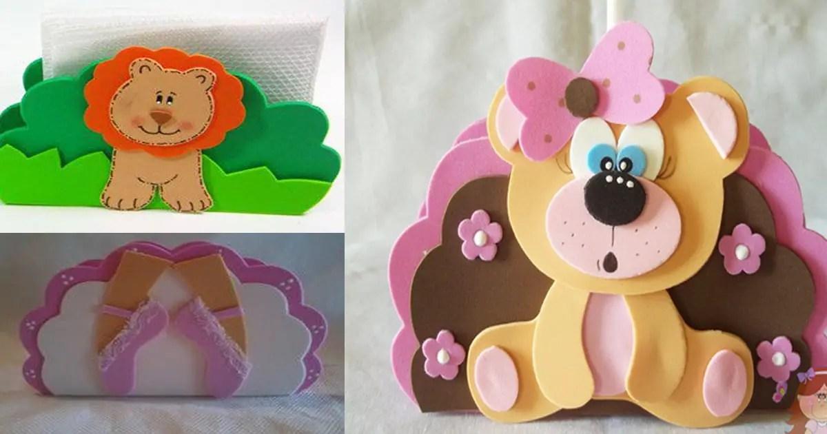 Servilleteros para fiestas infantiles hechos con foami - Detalles originales para cumpleanos infantiles ...