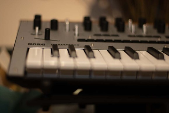 A close up photo of the Korg Monologue Analog Synth
