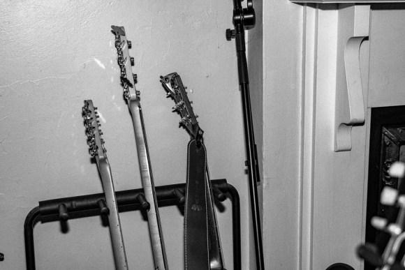 Guitars in rack