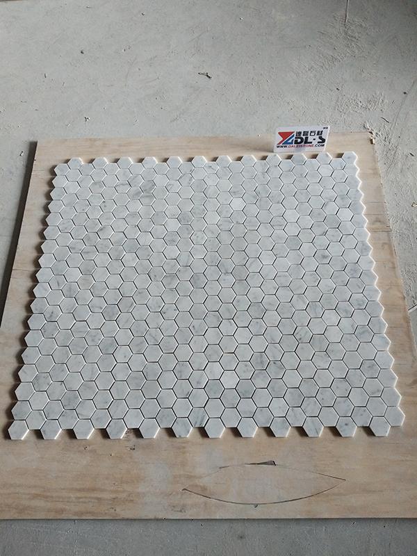 white carrara mosaic tile marble mosaic