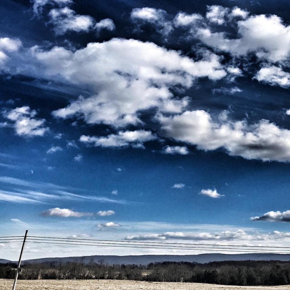 Big blue sky helps with the chill but clouds arehellip