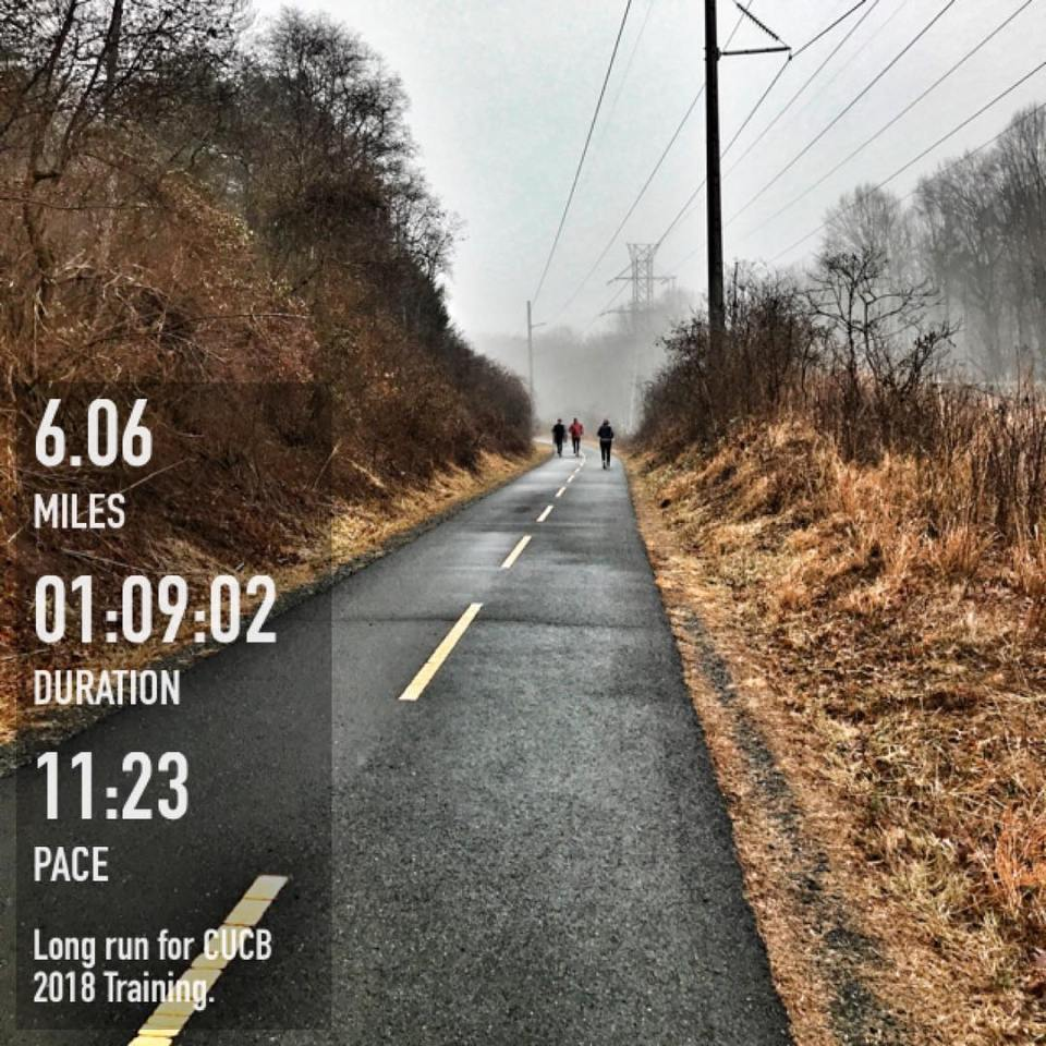 Damp and kind of dreary for todays cucb2018 training runhellip