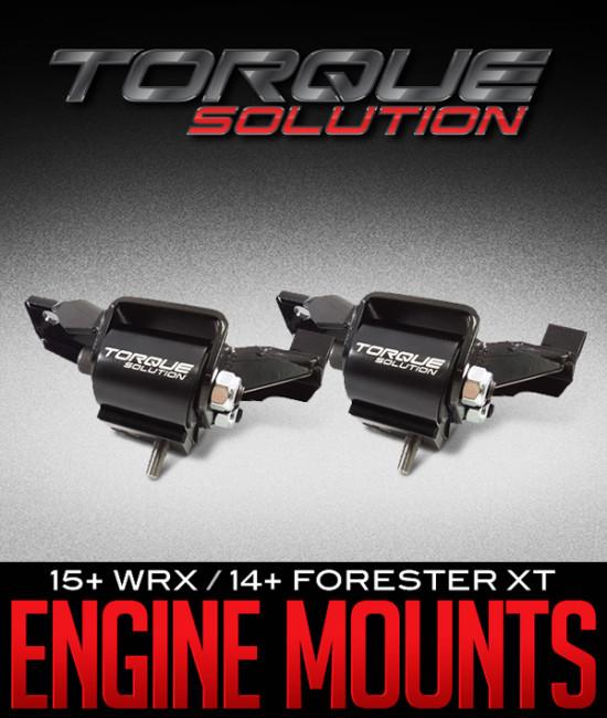 TORQUE SOLUTION ENGINE MOUNTS: 2015+WRX / 2014+FORESTER XT