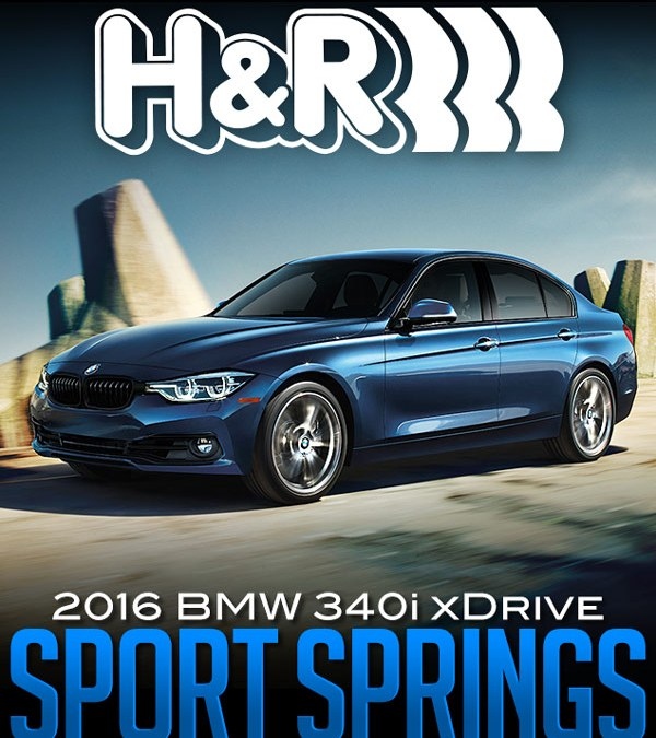 H&R SPORT SPRINGS: 2016 BMW 340I XDRIVE SEDAN