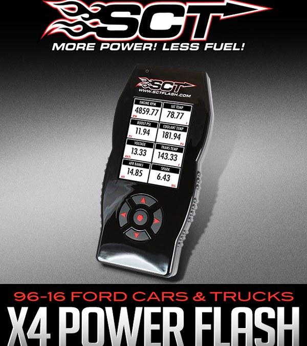 SCT X4 POWER FLASH PROGRAMMER: 1996-2016 FORD CARS & TRUCKS (GAS & DIESEL)