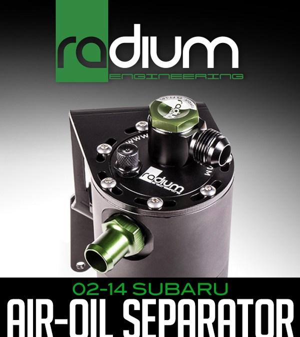 RADIUM ENGINEERING AIR-OIL SEPARATOR: 2002-14 SUBARU