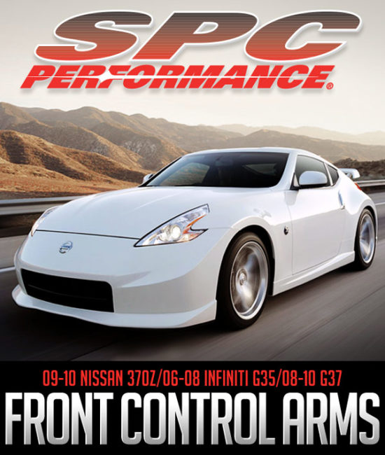 SPC PERFORMANCE ADJUSTABLE FRONT UPPER CONTROL ARMS: 09-10 NISSAN 370Z/06-08 INFINITI G35/08-10 G37