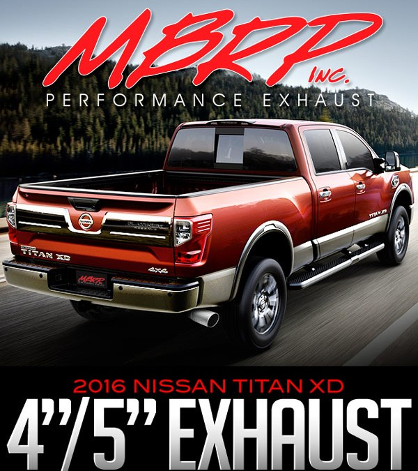 MBRP DPF BACK 4-INCH AND 5-INCH EXHAUST: 2016 NISSAN TITAN XD