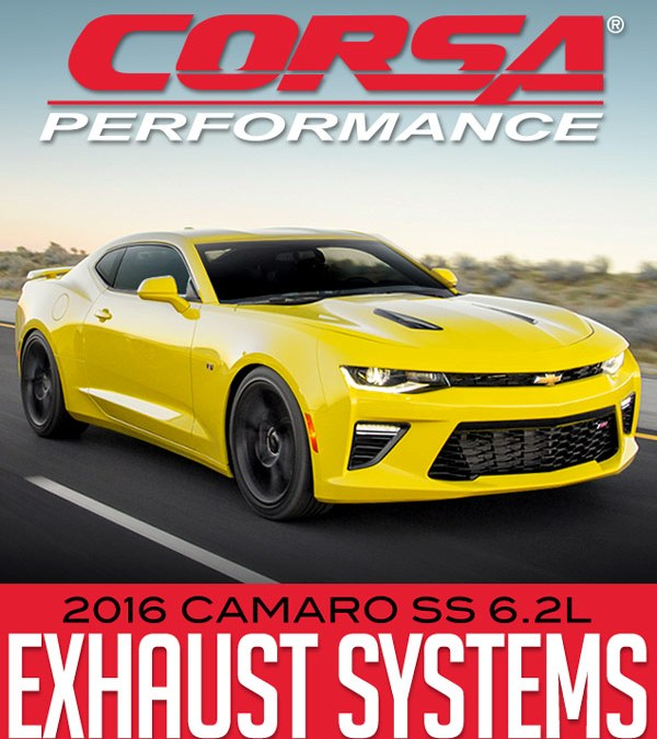 CORSA PERFORMANCE STAINLESS STEEL SPORT & XTREME AXLE-BACK EXHAUST SYSTEMS: 2016 CAMARO SS 6.2L at Dales Motorsport