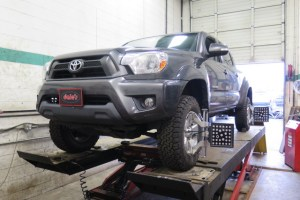 Toyota Tacoma getting a ToyTec BOSS Lift Kit at Dales Motorsport