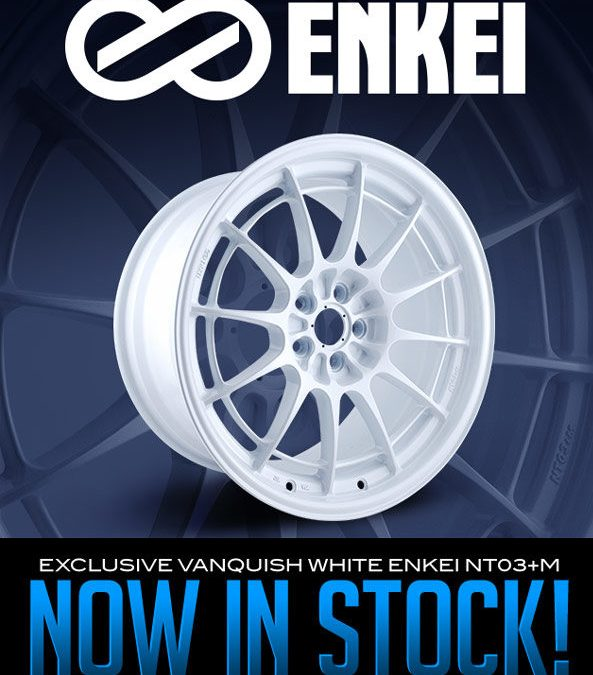 EXCLUSIVE VANQUISH WHITE ENKEI NT03+M NOW AVAILABLE!