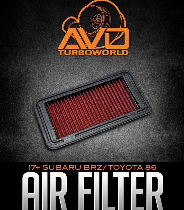 AVO HIGH-FLOW FLAT PANEL AIR FILTER: 2017+ SUBARU BRZ / 2017+ TOYOTA 86