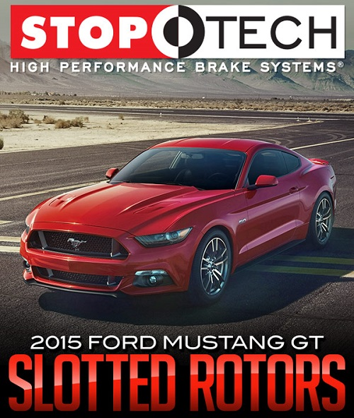STOPTECH SLOTTED ROTORS: 2015 FORD MUSTANG GT