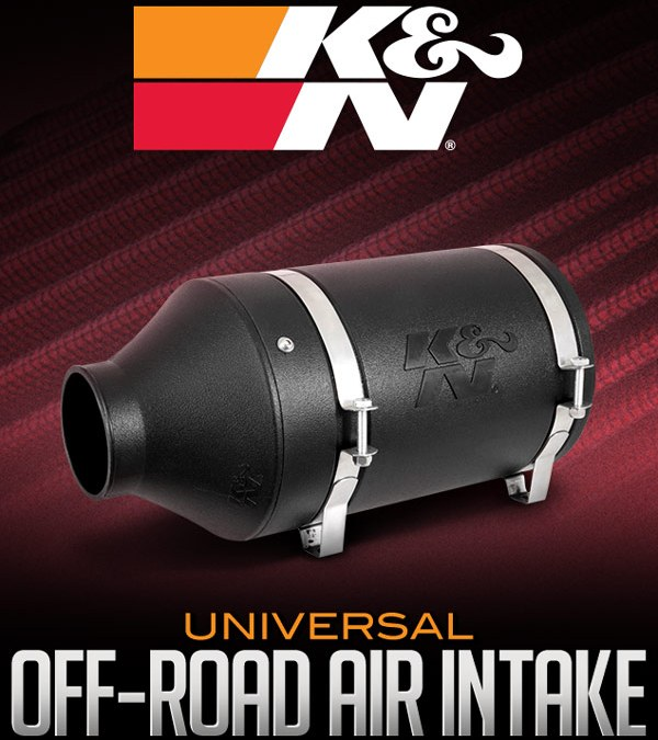 K&N UNIVERSAL OFF-ROAD AIR INTAKE