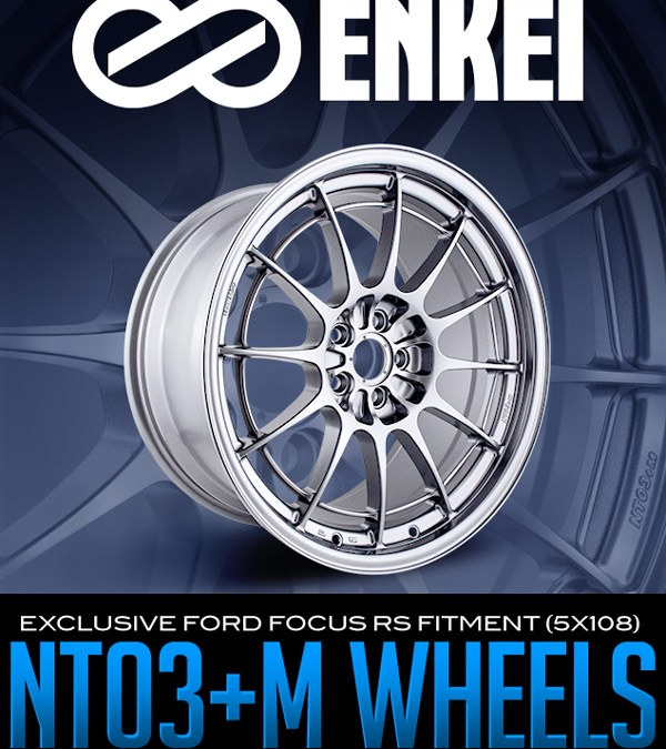 EXCLUSIVE FORD FOCUS RS FITMENT (5X108) ENKEI NT03+M WHEELS!