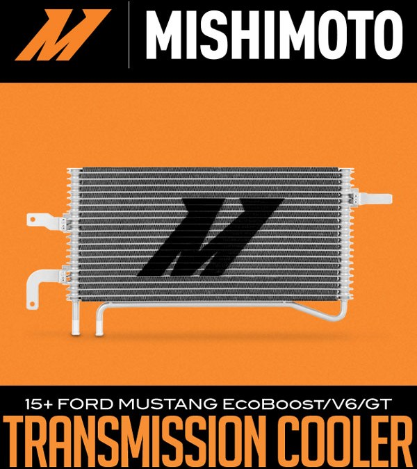 MISHIMOTO AUTOMATIC TRANSMISSION COOLER: 2015+ FORD MUSTANG ECOBOOST/V6/GT