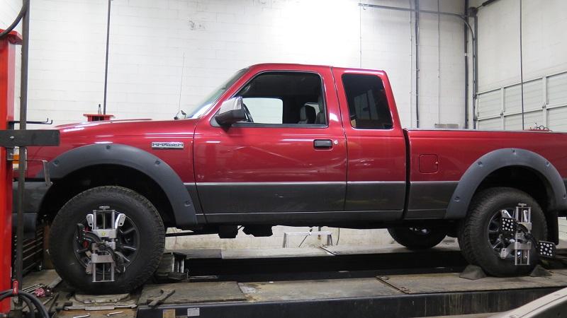 Ford Ranger in for Bilstein HD Shocks and TRUXXX Leveling Kit