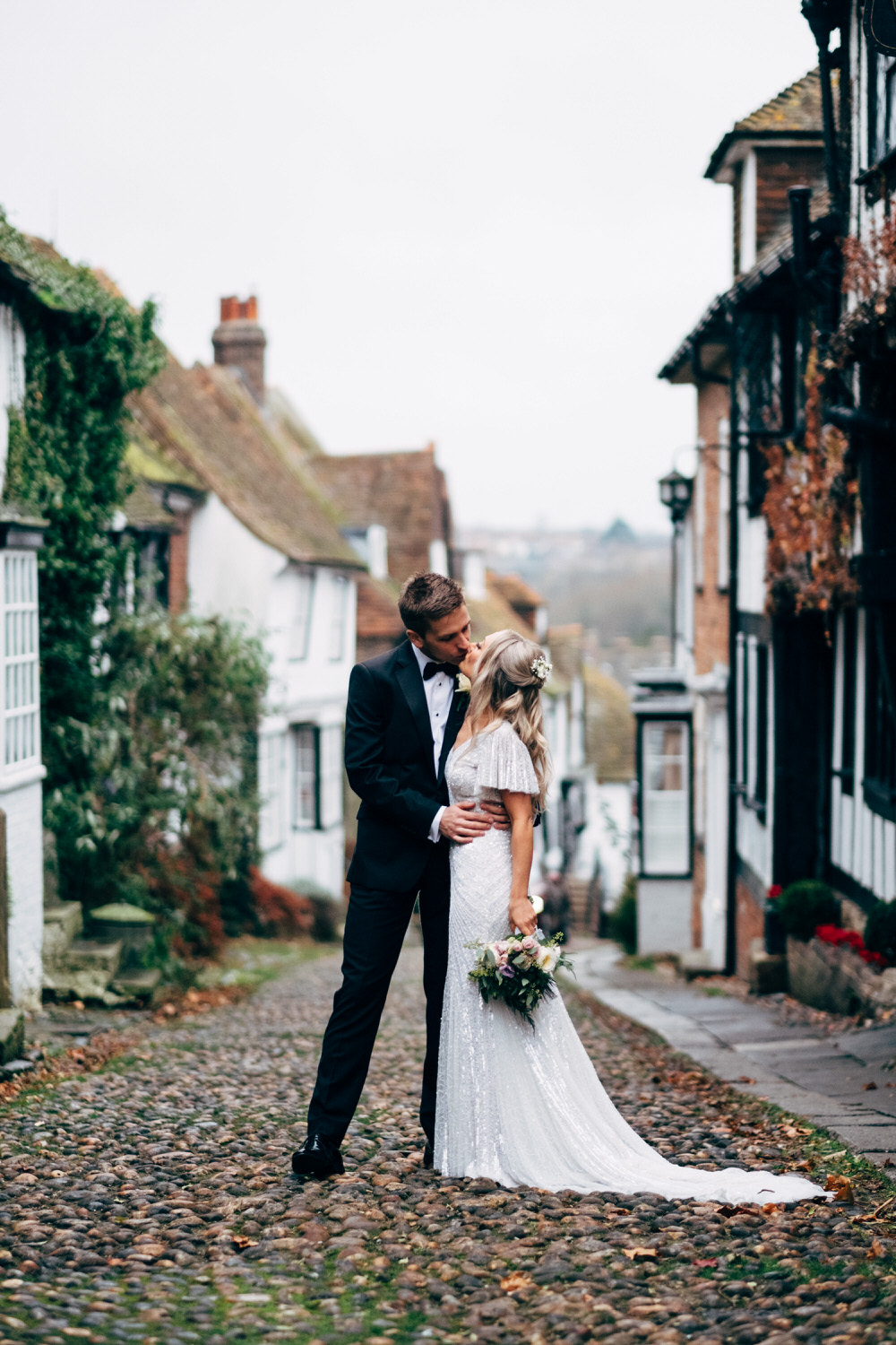 rye wedding photography mermaid street winter wedding