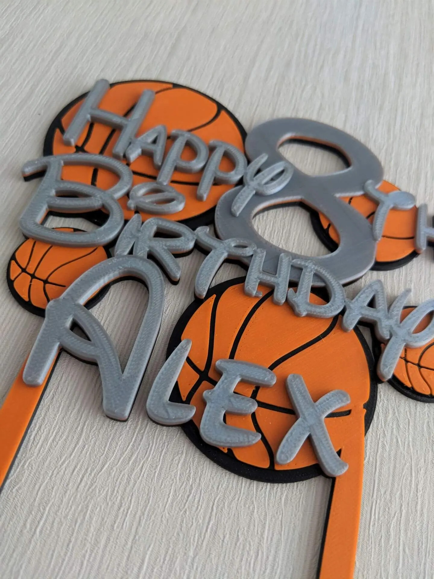 Phenomenal Personalised Basketball Birthday Cake Topper Dalewood Designs Gb Birthday Cards Printable Nowaargucafe Filternl