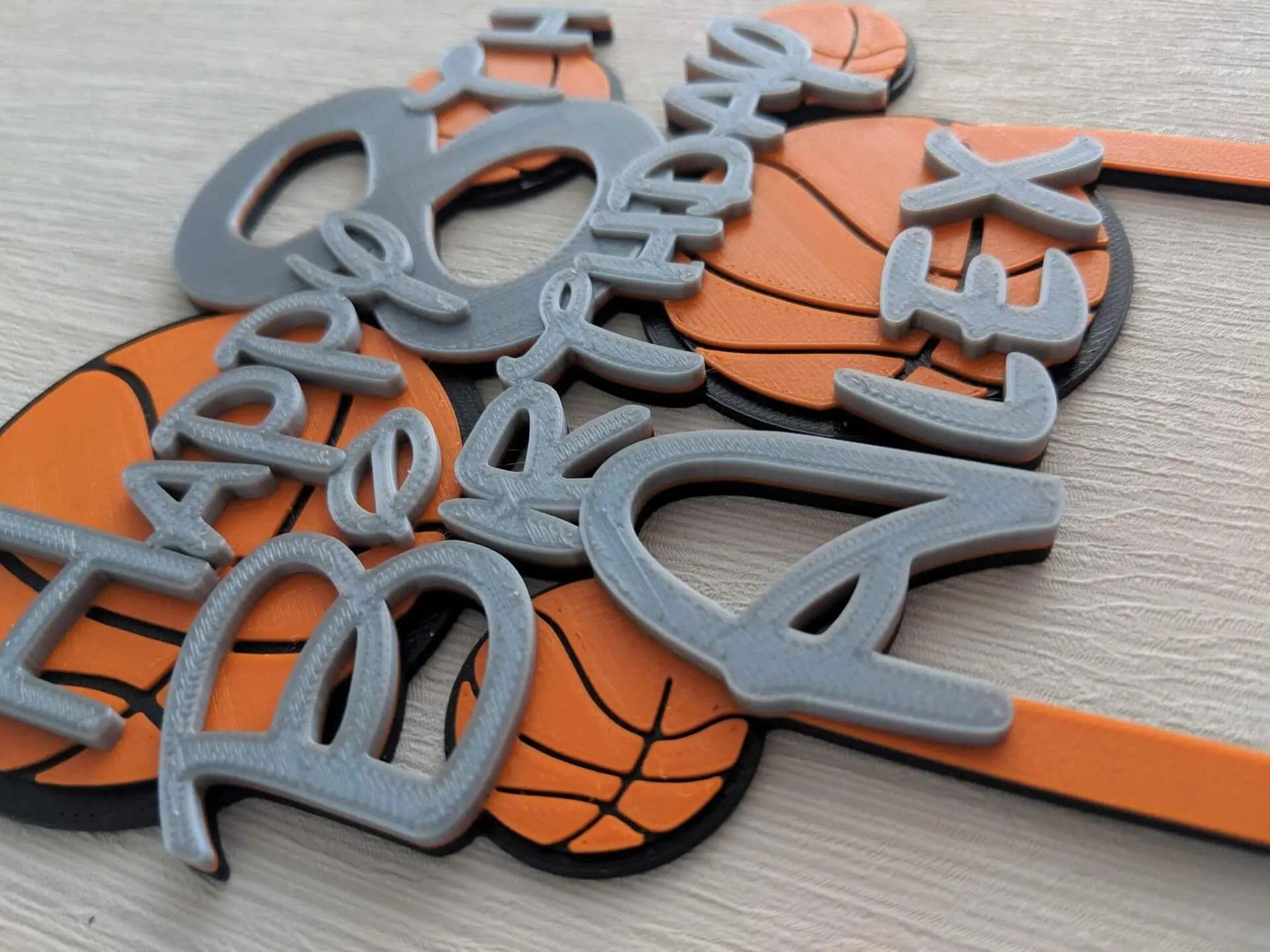 Prime Personalised Basketball Birthday Cake Topper Dalewood Designs Gb Funny Birthday Cards Online Benoljebrpdamsfinfo