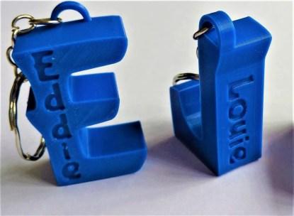 personalised letter keyrings - Blue