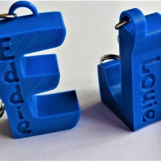personalised letter keyrings - Blue