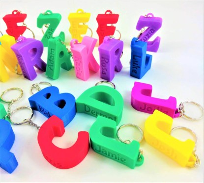 personalised letter keyrings - Various colours