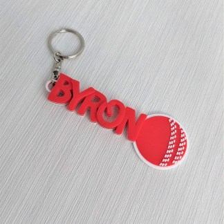 Cricket bookmark in red