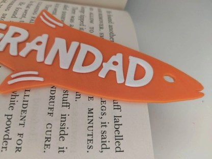 Fish shaped bookmark in Orange