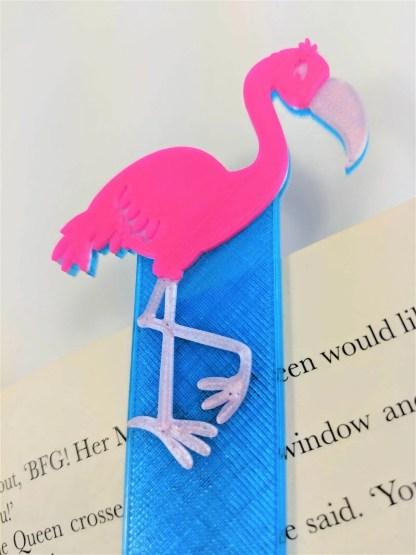 Flamingo themed bookmark