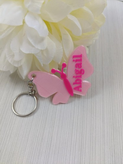 Personalised butterfly keyring, Butterfly with name 1