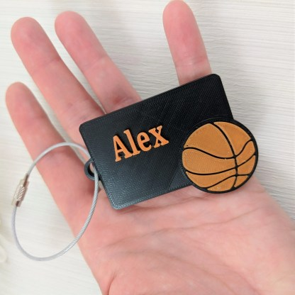 Personalised basketball Luggage Tag 1